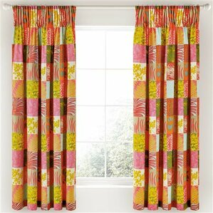 Mini Patchwork Semi Sheer Curtains (Set Of 2)