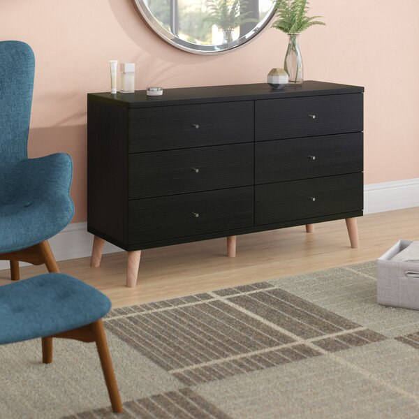 Groth 6 Drawer Double Dresser by Wrought Studio