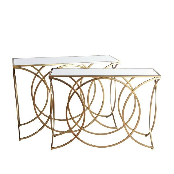 Minnnick Pedestal Nesting Tables By Everly Quinn