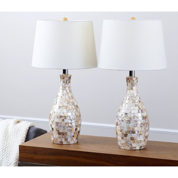 Maulik Mother of Pearl 22 Table Lamp (Set of 2) by Beachcrest Home
