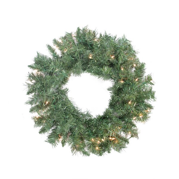 Pre-lit Minetoba Pine Artificial Christmas Wreath by Northlight Seasonal