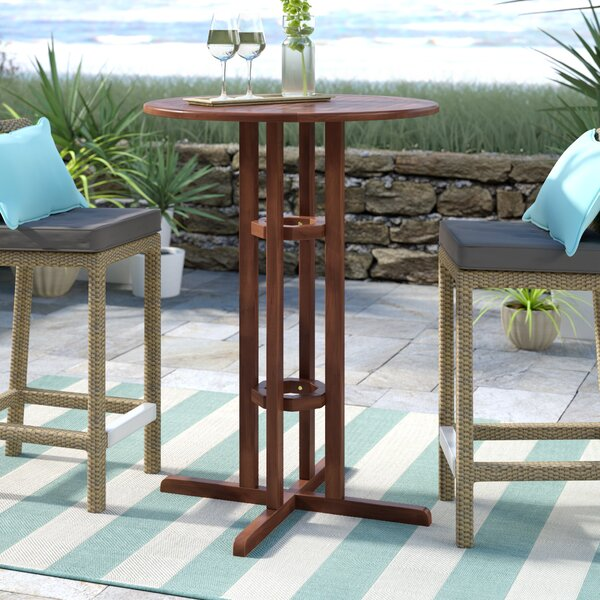 Rothstein Solid Wood Bar Table by Beachcrest Home