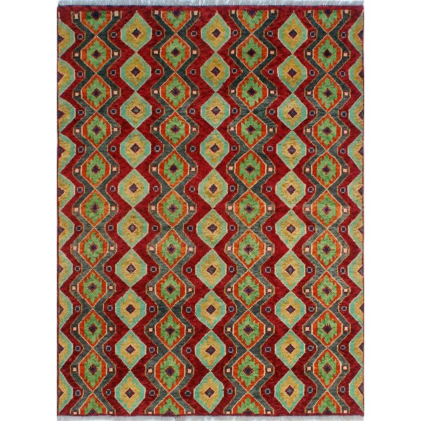 One-of-a-Kind Millender Nayo Hand-Knotted Wool Red Area Rug by Bloomsbury Market