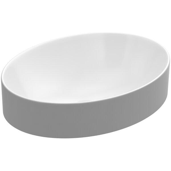 Bathroom Sinks Oval kohler vox oval vessel bathroom sink with overflow & reviews | wayfair