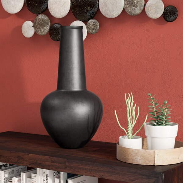 Saleya Black Ceramic Table Vase by World Menagerie