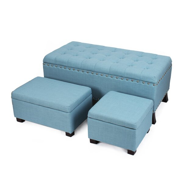 Chloé 3 Piece Storage Ottoman Set by Darby Home Co