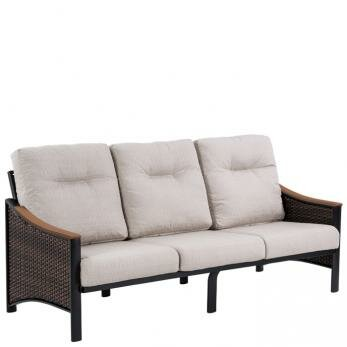 Brazo Woven Patio Sofa with Cushions by Tropitone