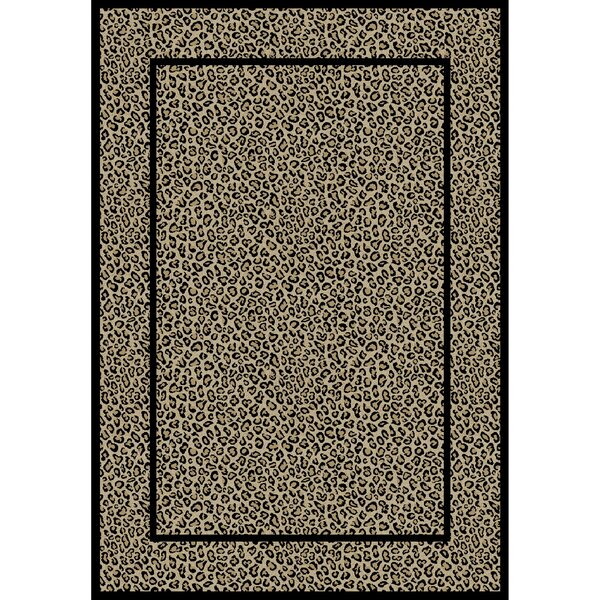 Jewel Leopard Beige Area Rug by Threadbind