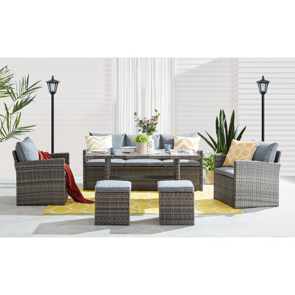 Lucan 6 Piece Rattan Sofa Seating Group with Cushions by Ivy Bronx