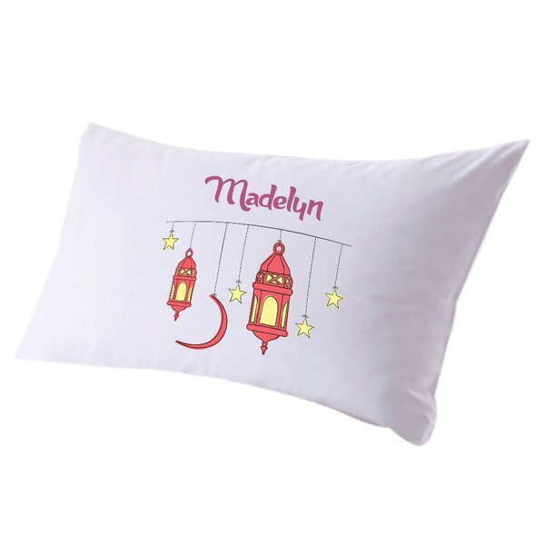 Personalized Stars and Lanterns Pillow Case by Monogramonline Inc.