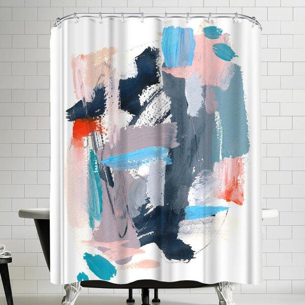 Olimpia Piccoli Rhythms Ii Shower Curtain by East Urban Home