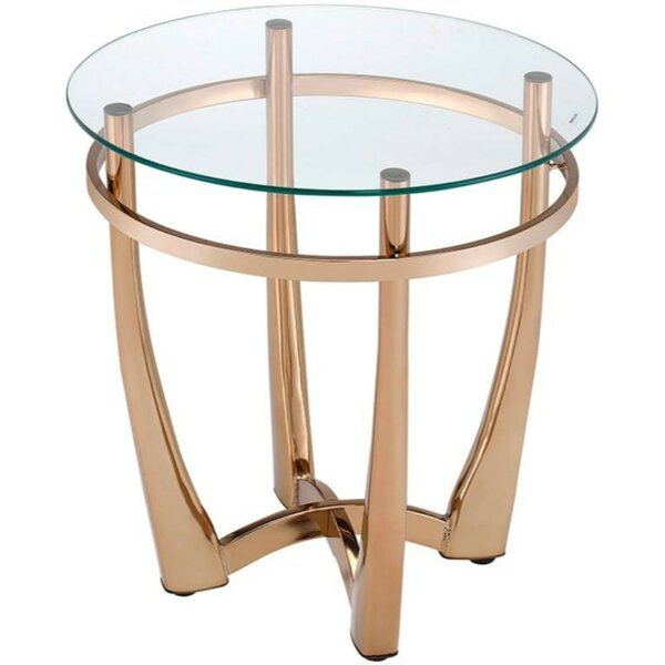 Skelton Glass Round End Table by Mercer41