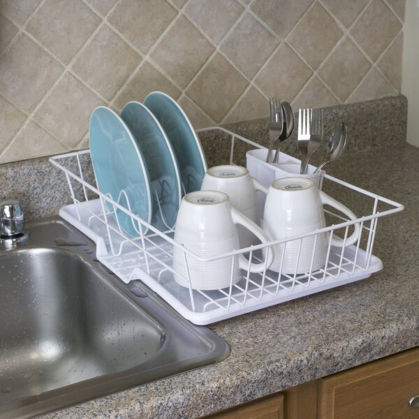 3 Piece Dish Rack with Tray by Home Basics
