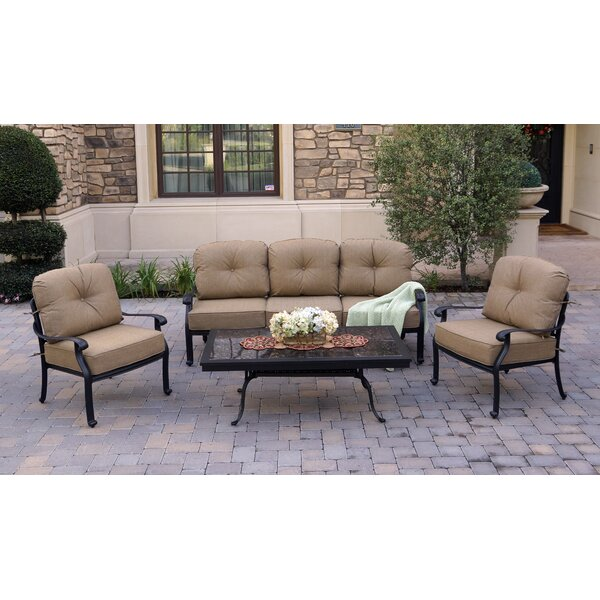 Solorzano 4 Piece Sofa Seating Group with Cushions by Fleur De Lis Living