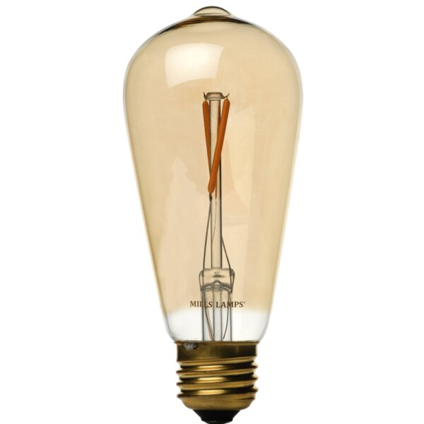 Yellow E26 LED Vintage Filament Light Bulb by Edison Mills