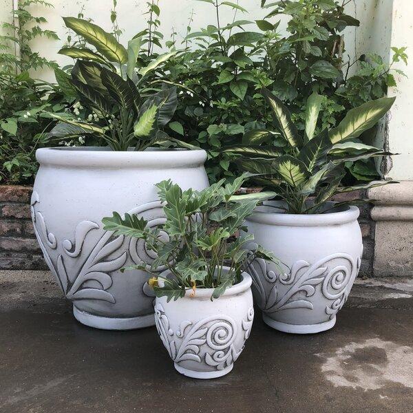 Bromyard Fancy Scroll 3-Piece Pot Planter Set (Set of 3) by Fleur De Lis Living