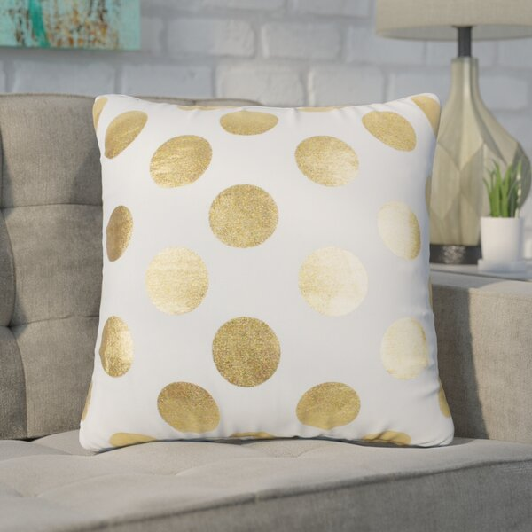 Geter Dots Large Throw Pillow by Wrought Studio