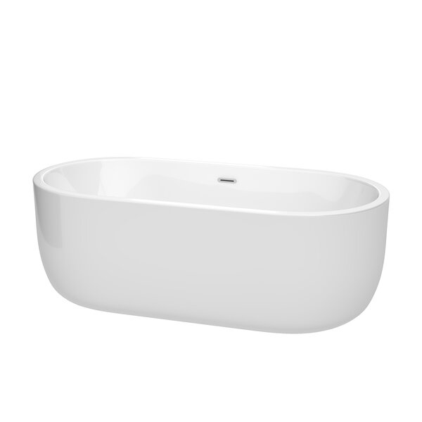 Juliette 67 x 31.5 Freestanding Soaking Bathtub by Wyndham Collection