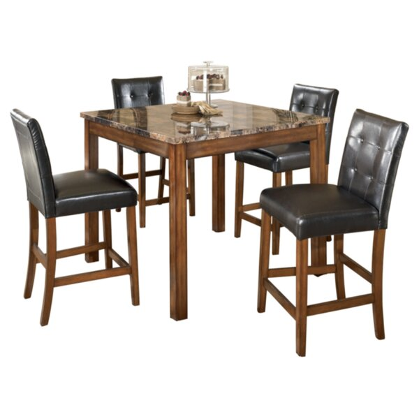 Athens 5 Piece Counter Height Dining Set by Charlton Home Charlton Home