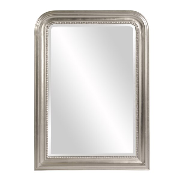 Arched Metallic Silver Wood Wall Mirror by One Allium Way