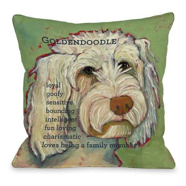 Doggy Golden Doodle Throw Pillow by One Bella Casa