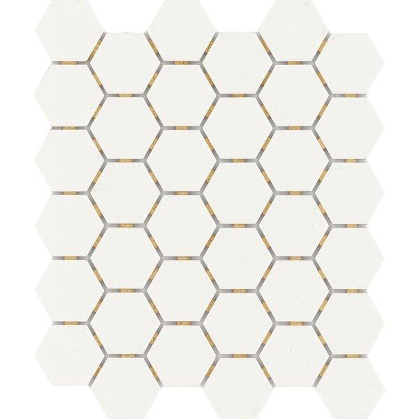 Zone Hex 2 x 2 Porcelain Mosaic Tile in Matte White by Emser Tile
