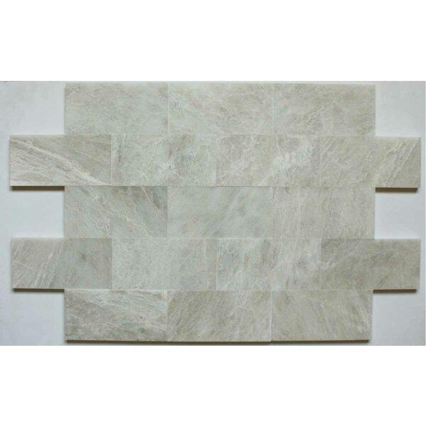 3 x 6 Marble Subway Tile in Iceberg by Ephesus Stones