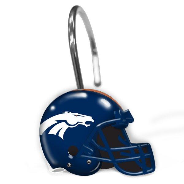 NFL Broncos Shower Curtain Hooks by Northwest Co.