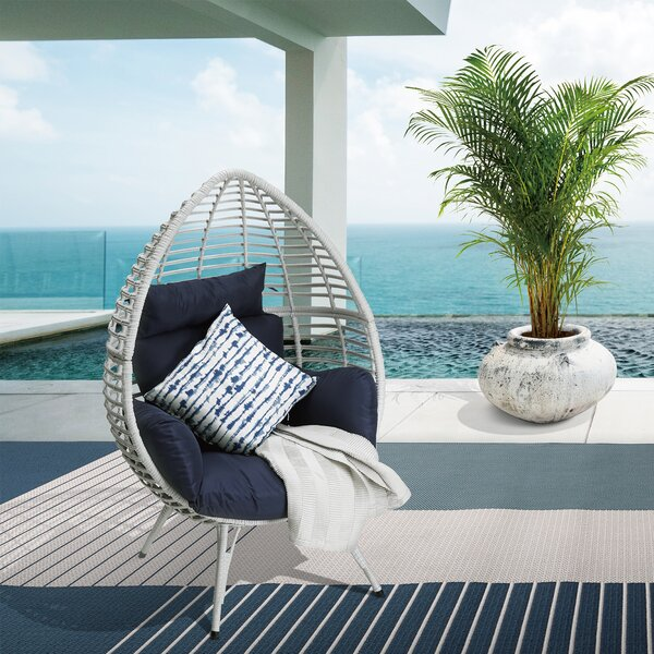 Egg Patio Chair with Cushion by Peaktop