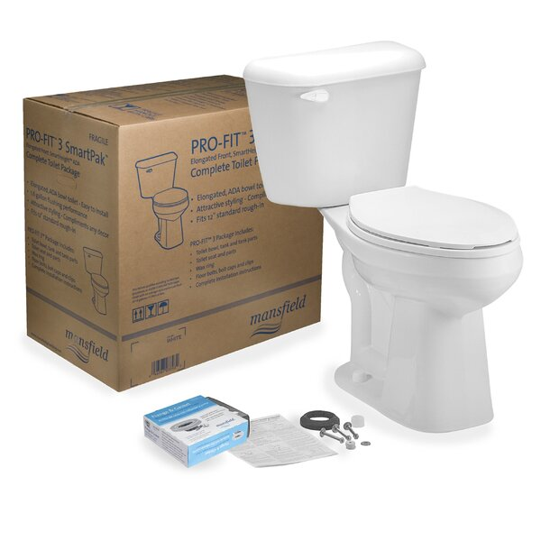 Pro-Fit 3 1.28 GPF Elongated Two-Piece Toilet by Mansfield Plumbing Products