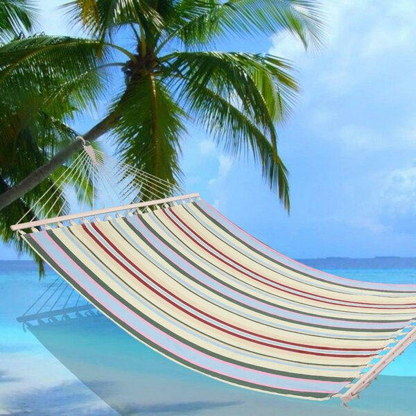 Hagberg Printing Double Spreader Bar Hammock by Highland Dunes Highland Dunes