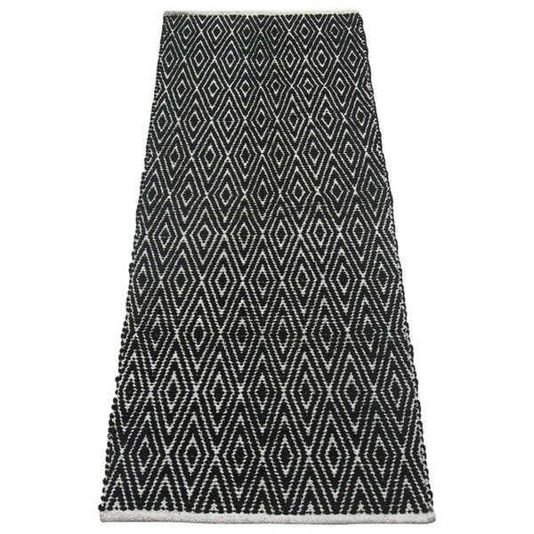Fortin Black/White Indoor/Outdoor Area Rug by Bung