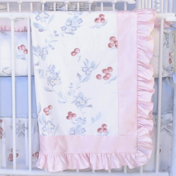 Cherry Blossom Crib Quilt by Blueberrie Kids