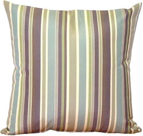 Anderson Stripes Indoor/Outdoor Sunbrella Throw Pillow by Rosecliff Heights