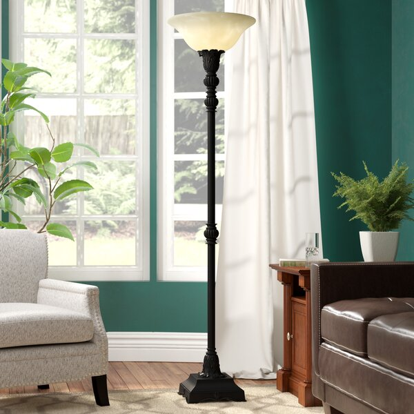 Boulevard 73 Torchiere Floor Lamp by Three Posts