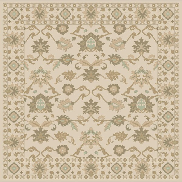 Topaz Hand-Tufted Khaki Area Rug by World Menagerie