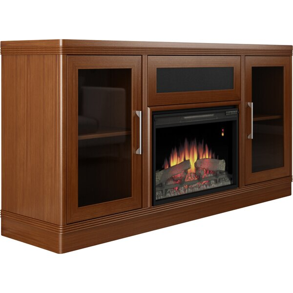Transitional 70 TV Stand with Fireplace by Furnitech