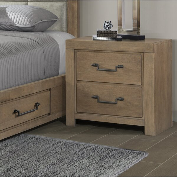 Schwab 2 Drawer Nightstand by Gracie Oaks