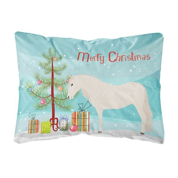 Oakdale Paso Fino Horse Christmas Indoor/Outdoor Throw Pillow by The Holiday Aisle