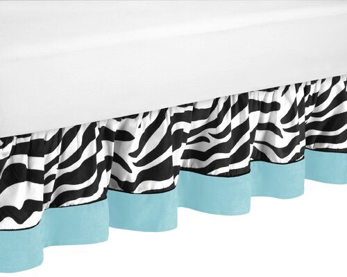 Zebra Queen Bed Skirt by Sweet Jojo Designs