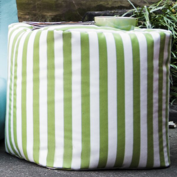 Ayala Striped Square Outdoor Pouf Ottoman by Zipcode Design