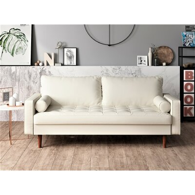 Faux Leather White Sofas You Ll Love In 2020 Wayfair