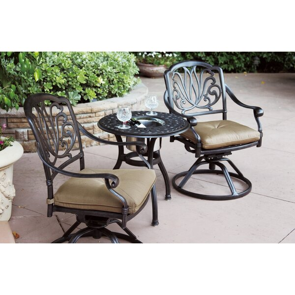 Lebanon 3 Piece Bistro Set with Cushions and Cooler by Three Posts