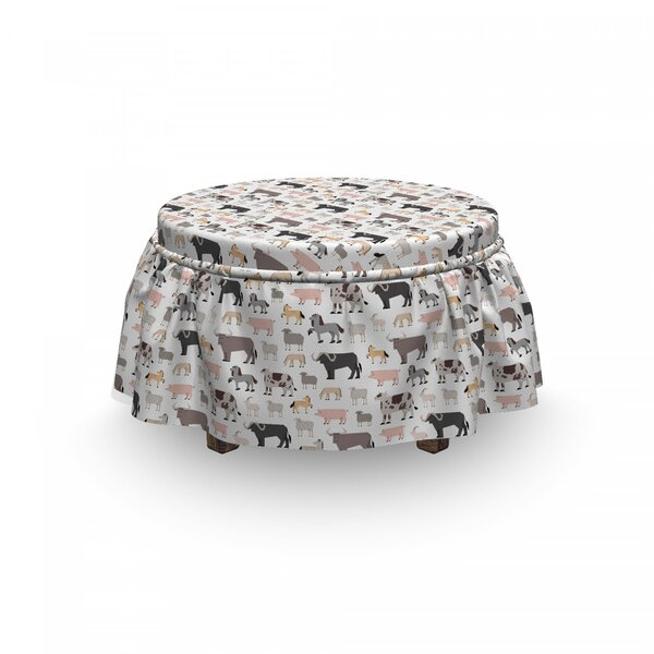 Graphic Cattle Ottoman Slipcover (Set Of 2) By East Urban Home