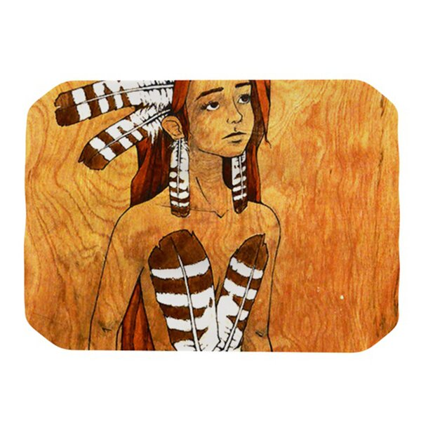 Owl Feather Dress Placemat by KESS InHouse