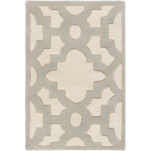 Laurita Hand-Tufted Cream/Gray Area Rug by Alcott Hill