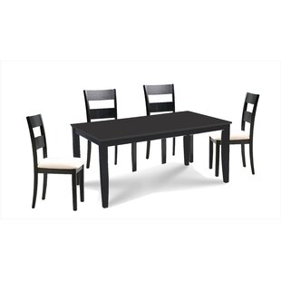 Almeida 5 Piece Extendable Solid Wood Dining Set By Charlton Home
