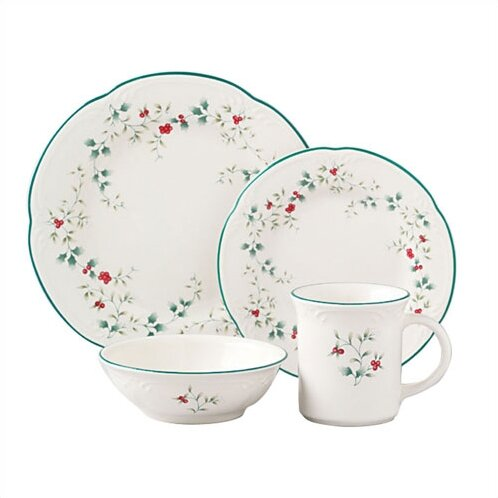 Winterberry 16 Piece Dinnerware Set, Service for 4 by Pfaltzgraff