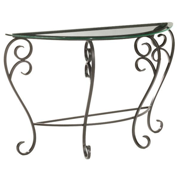 Fleur De Lis Living Black Console Tables