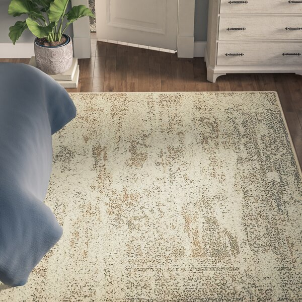 Forcalquier Abstract Cream Area Rug by Lark Manor
